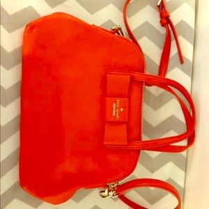 Cherry red Kate spade purse
